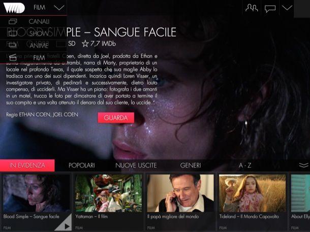 Come vedere film in streaming su iPad