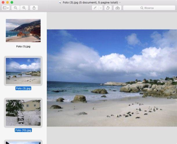 Trasformare immagini in PDF