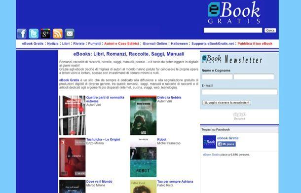 Siti per scaricare ebook gratis