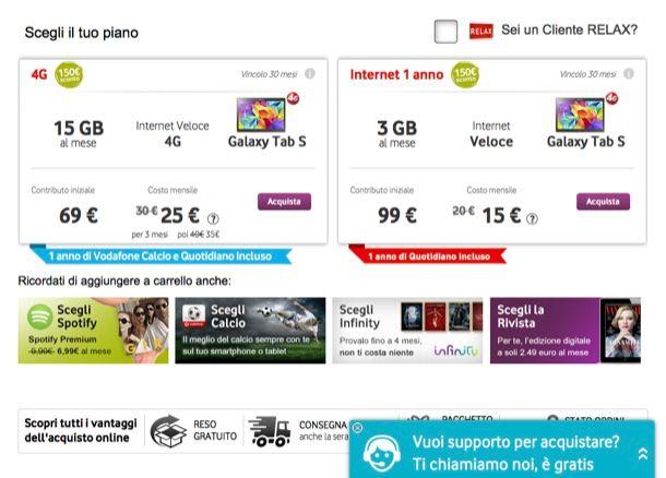 Offerte tablet Vodafone