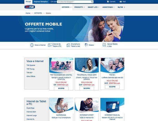 Offerte telefonia mobile