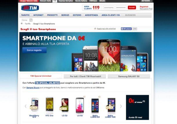 TIM tariffe cellulari
