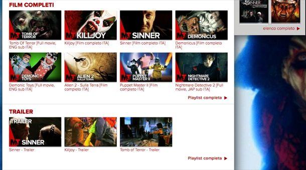 Vedere film gratis in streaming