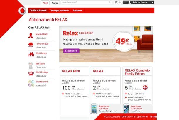 Vodafone offerte telefonia mobile