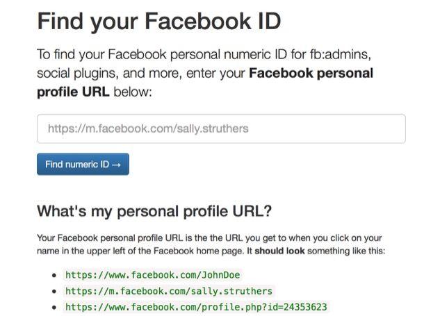 Come trovare ID di Facebook