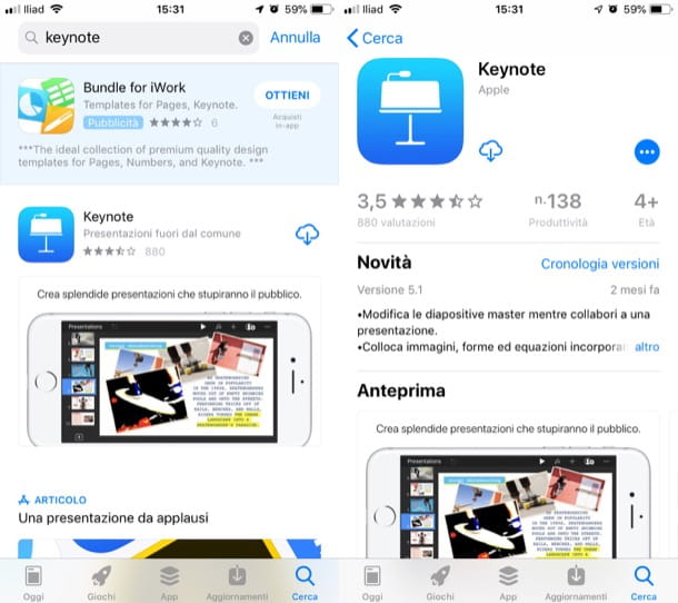 iWork per iPhone e iPad