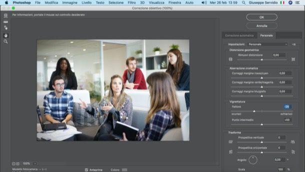 Vignettare foto con Photoshop su PC