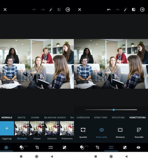 Vignettare foto Photoshop su smartphone e tablet