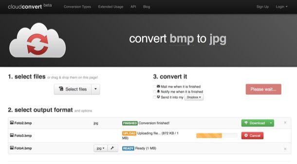 Come convertire file BMP in JPG