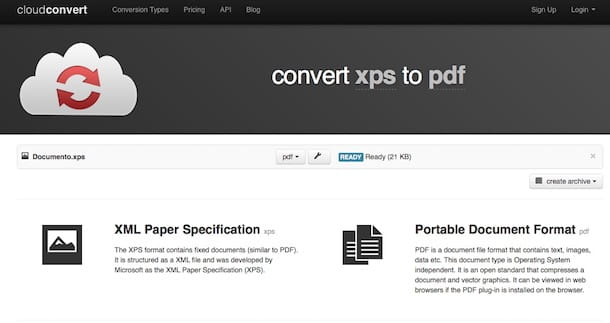 Come convertire XPS in PDF