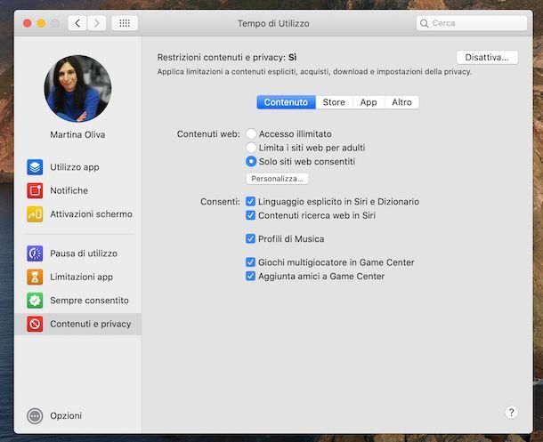 Tempo di utilizzo macOS