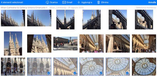 Come archiviare foto su iCloud