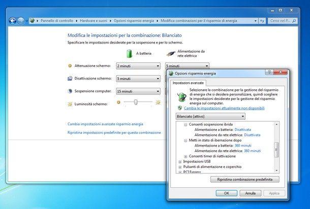 Come ibernare Windows 7