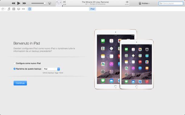 Come azzerare iPad