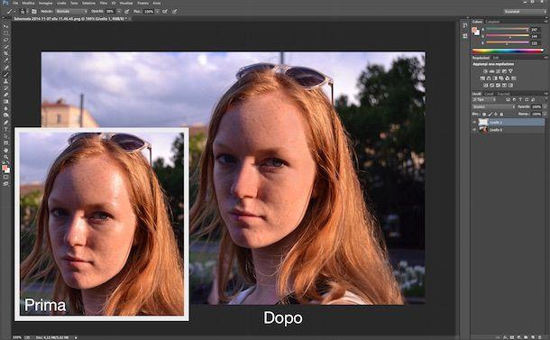Come opacizzare una foto con Photoshop