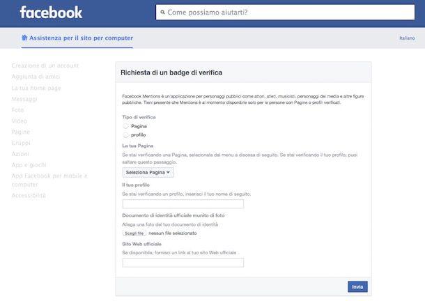 Come ufficializzare una pagina Facebook