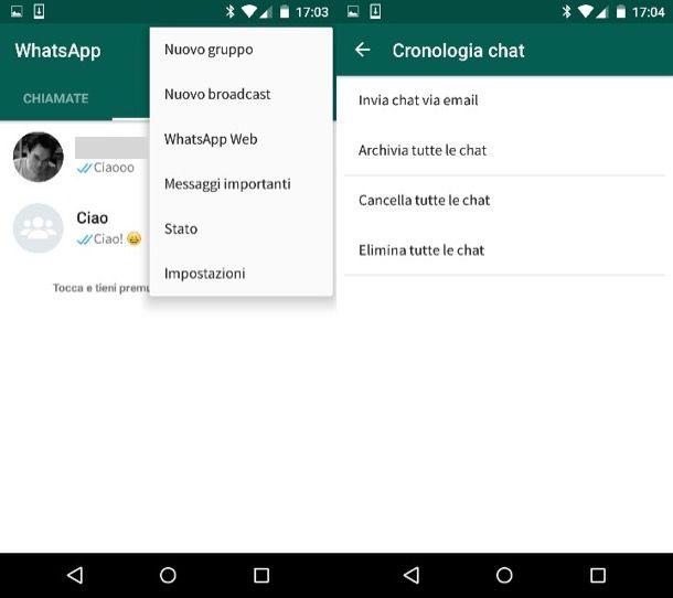 Come archiviare i messaggi di WhatsApp
