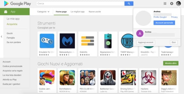 Come sloggarsi da Google Play