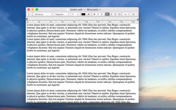 Come trasformare un ODT in PDF