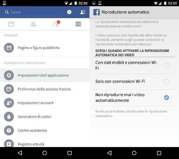 Disabilitare l'avvio automatico dei video su Facebook