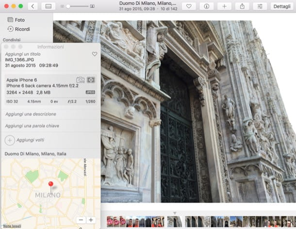 Come localizzare una foto