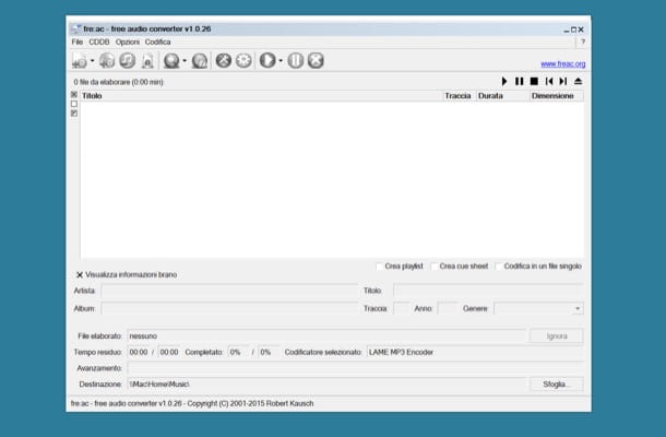 Come convertire file audio in MP3