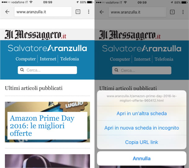Come navigare in incognito con Chrome