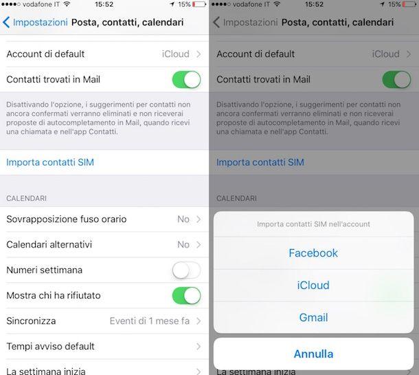 Come importare i contatti su iPhone
