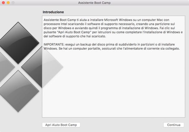 Come installare Windows su Mac