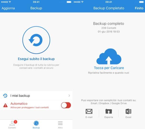 come esportare i contatti da iPhone a PC