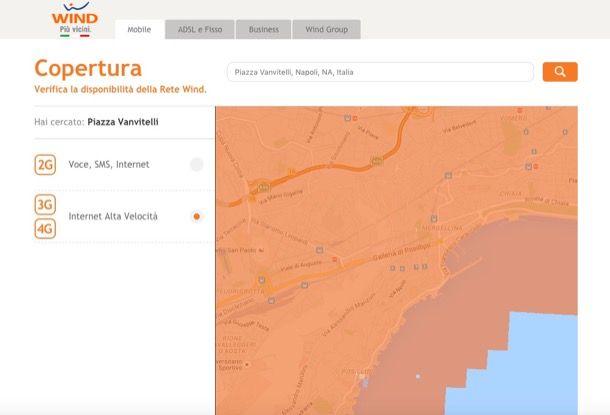 Visualizzare copertura cellulari di Vodafone, Tim, Wind e 3