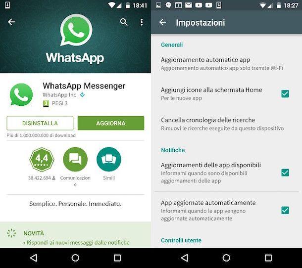 come aggiornare whatsapp su samsung