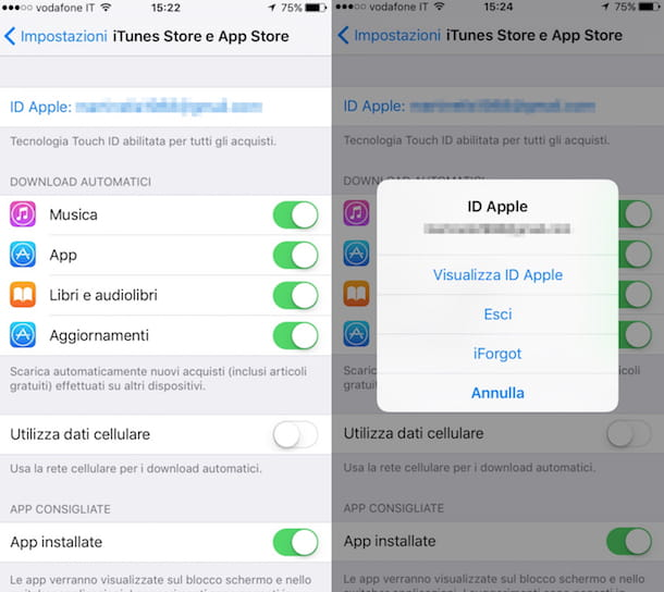 Come cambiare ID Apple su iPhone