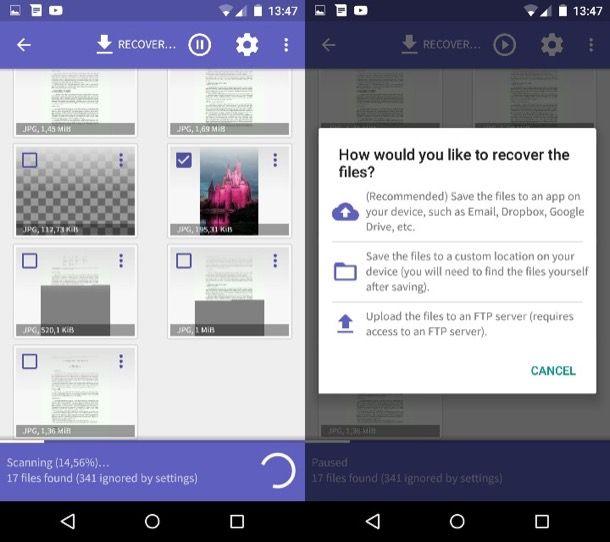 come recuperare file cancellati da Android