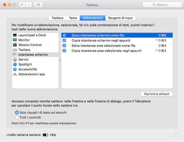 Come fotografare lo schermo Mac