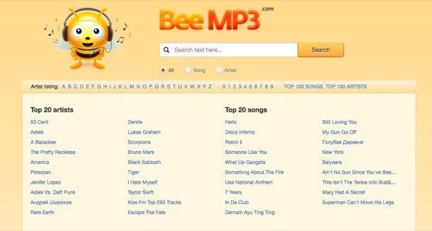 Programma per scaricare musica gratis