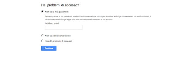 Come recuperare password Gmail