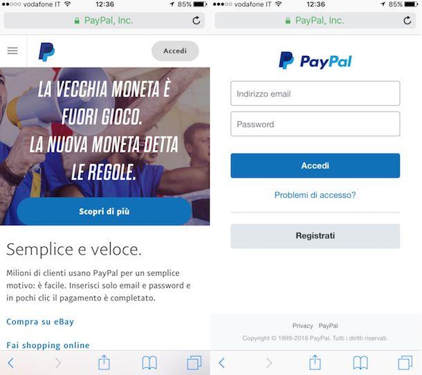 Come effettuare un pagamento con Paypal