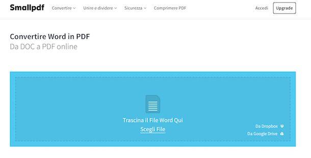 Come trasformare un file Word in PDF