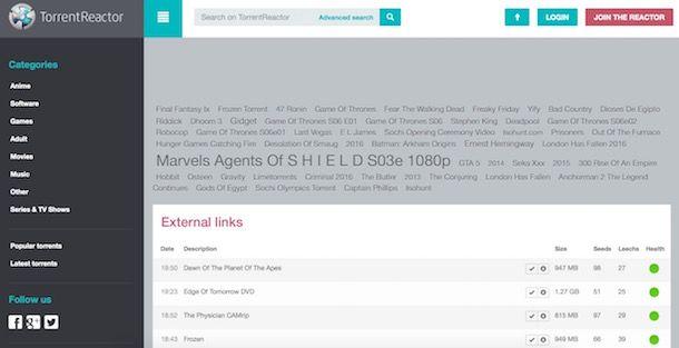 I migliori motori di ricerca torrent gratis