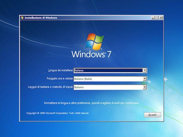 Come formattare Windows 7