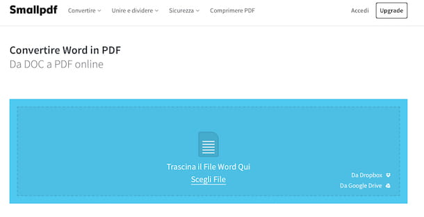 Come convertire un file Word in PDF