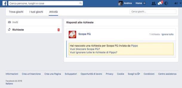 Come bloccare gli inviti ai giochi di Facebook