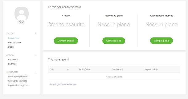 Acquistare credito Viber Out da PC