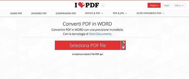 Come trasformare un PDF in Word