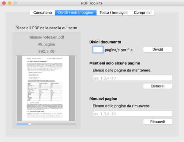 Come dividere un file PDF