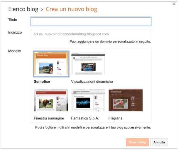 Come creare un blog gratis su Internet