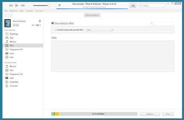 Come trasferire file su iPad usando iTunes