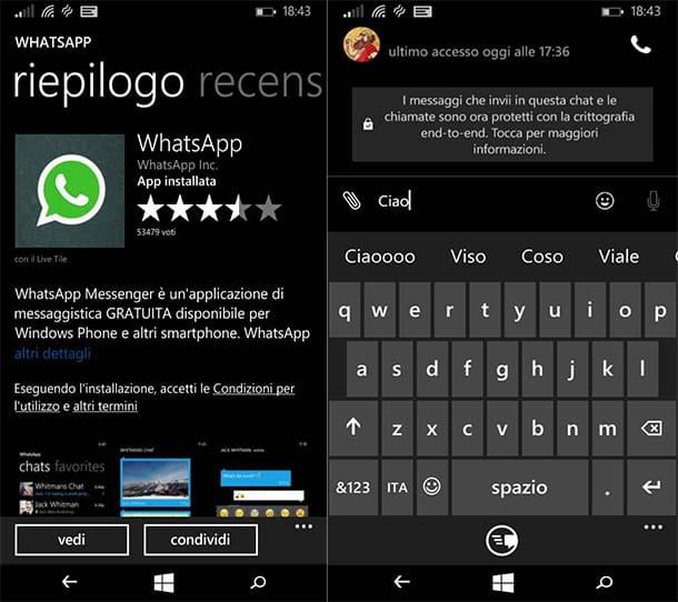 Come installare WhatsApp