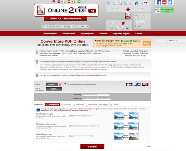 Come modificare un file PDF online